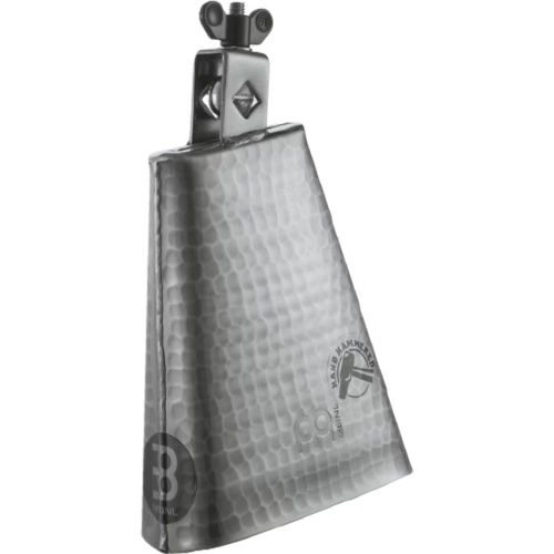 "Meinl 6 1/4"" Hand Brushed Steel Cowbell - Silver Finish"