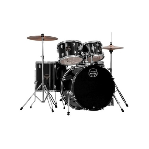 "Mapex Prodigy 5pc 20"" Drum Set With Hardware & Cymbal Package - Black"