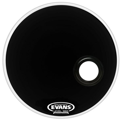20 INCH BASS DRUM RESONANT BLACK