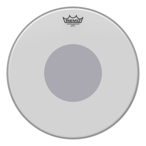 "Remo 16"" Controlled Sound Coated Black Dot Bottom"