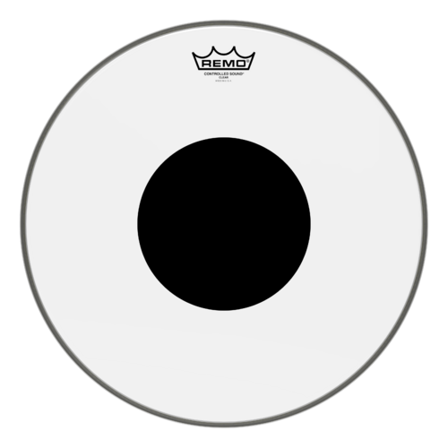 Controlled Sound® Clear Black Dot™ Drumhead - Top Black Dot™, 16""