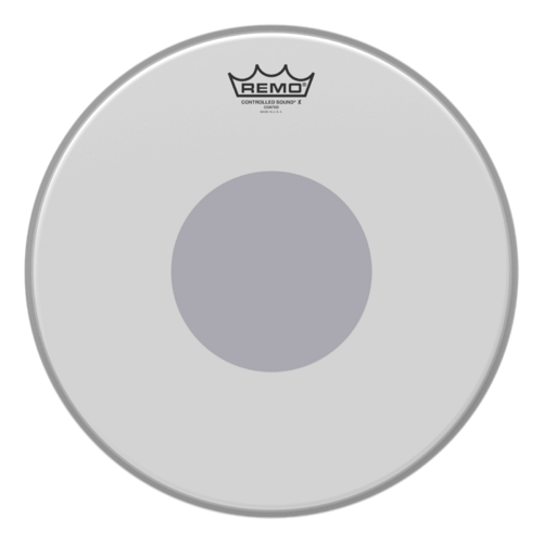 "Remo 14"" Controlled SoundX Coated Black Dot on Bottom"