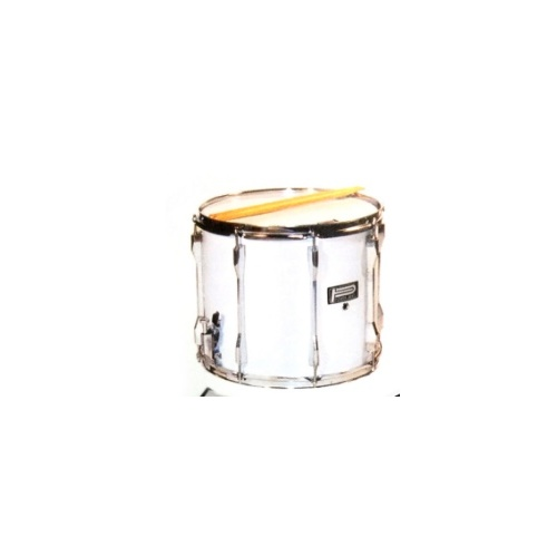 14 X 12 INCH SNARE MARCHING DRUM 08 LUGS SILVER