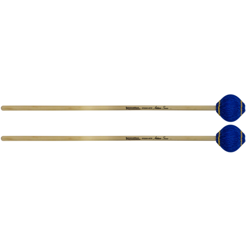 Innovative Multi-Tone Marimba Mallets - Royal Blue Yarn - Rattan