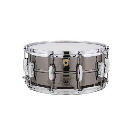 "Ludwig Black Beauty 6.5""x14"" Hammered Brass Snare Drum"