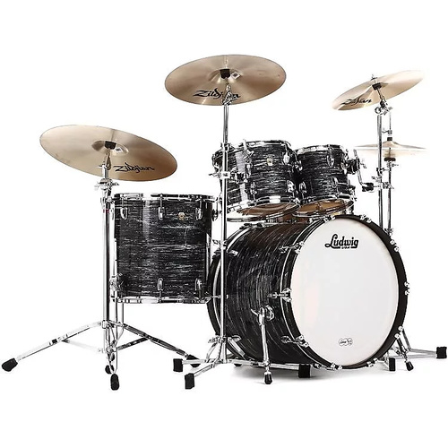 "Ludwig 22"" Classic Maple MOD 4pc Shell Pack - Vintage Black Oyster"
