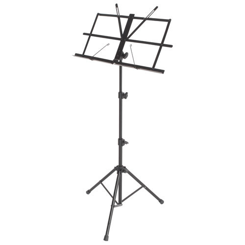MUSIC STAND TRIPOD BASE 28H X 50W CM DESK W/BAG