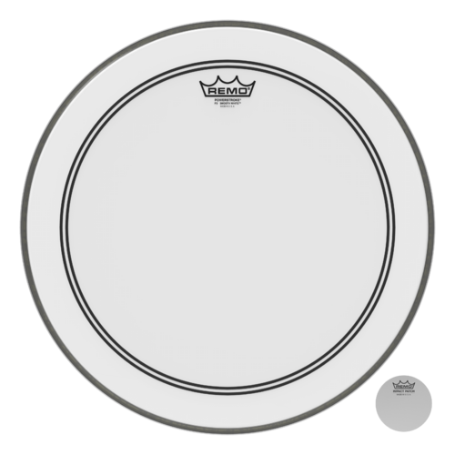 Powerstroke® P3 Smooth White™ Bass Drumhead, 18""