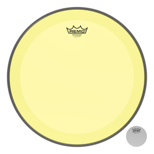 Powerstroke® P3 Colortone™ Yellow Bass Drumhead, 16""
