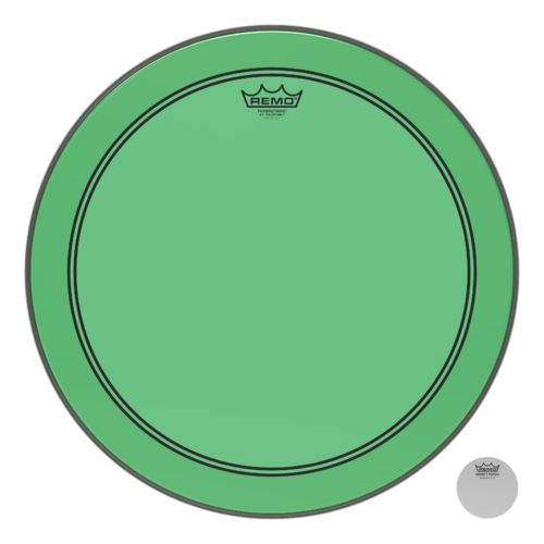 Powerstroke® P3 Colortone™ Green Bass Drumhead, 18""