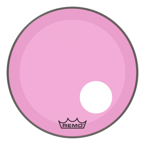 "Powerstroke® P3 Colortone™ Pink Bass Drumhead, 20"", 5"" Offset Hole"