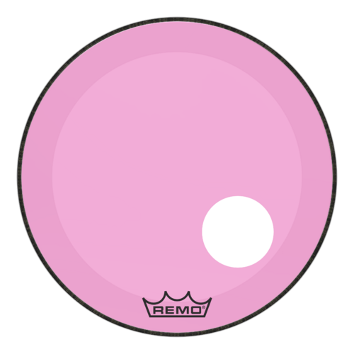 "Powerstroke® P3 Colortone™ Pink Bass Drumhead, 22"", 5"" Offset Hole"