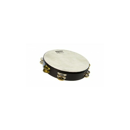 GROVER SX 10IN TAMBOURINE DBL ROW SILVER/BRASS