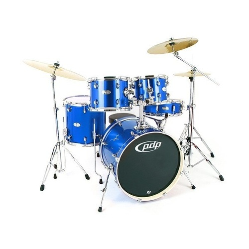 PDP Mainstage 5 Piece -  Midnight Blue Sparkle Drum Kit w/Hardware