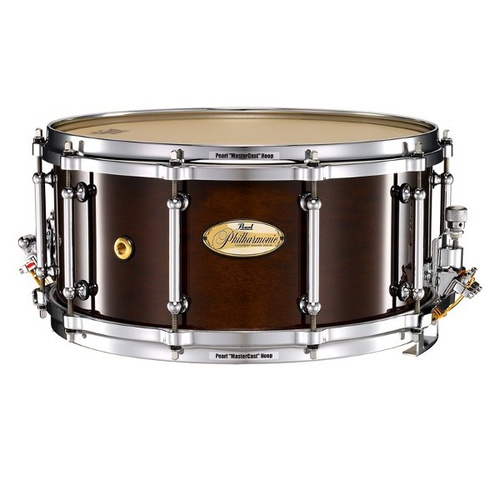 "Pearl 14"" x 8"" 6Ply Maple Philharmonic Concert Snare Drum - High Gloss Walnut"