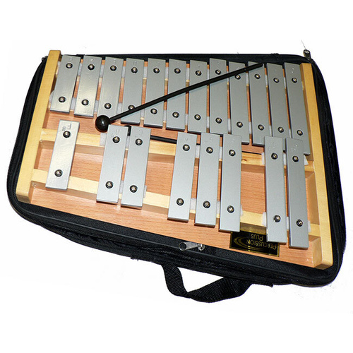 Percussion Plus 20 Note Glockenspiel With Bag - Natural Wood Frame