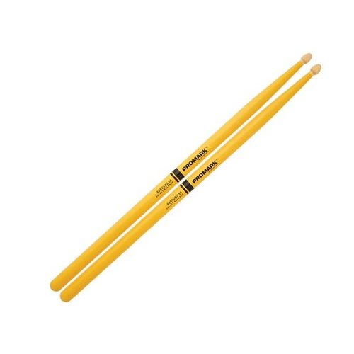 Promark Rebound 565 Painted Hickory 5A Drumsticks - Yellow
