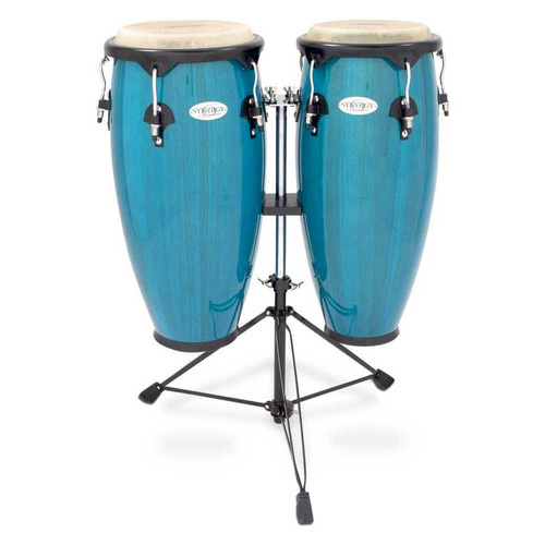 "Toca Synergy 10/11"" Congas with Stand Blue"