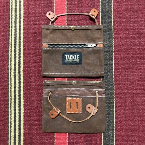Waxed Canvas Gig Pouch - Brown